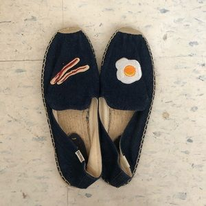 Soludos espadrilles with cute bacon and egg detail